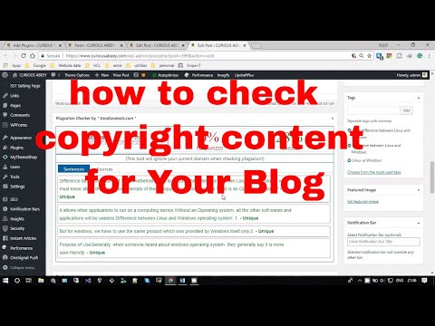How to check if your blog contents are copyrighted or not?