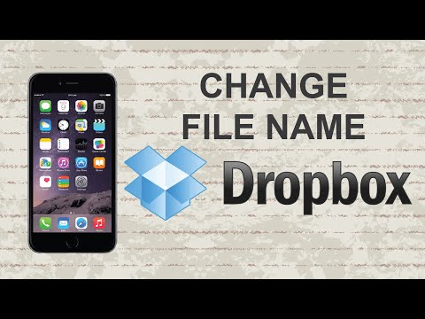 How to change file name on Dropbox | Mobile App
