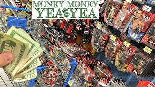 CRAZY GUY FINDS $300.00! BUYS WWE TOYS WITH STOLEN MONEY AT WALMART!!