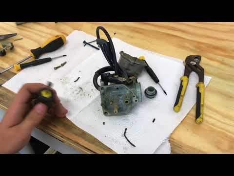 How to clean a carburetor and fix a bogging dirt bike