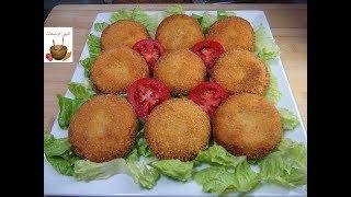 أسرع وألذ فطائر الدجاج المقرمشة بدون فرن وبدون عجين سهلة وسريعة التحضير
