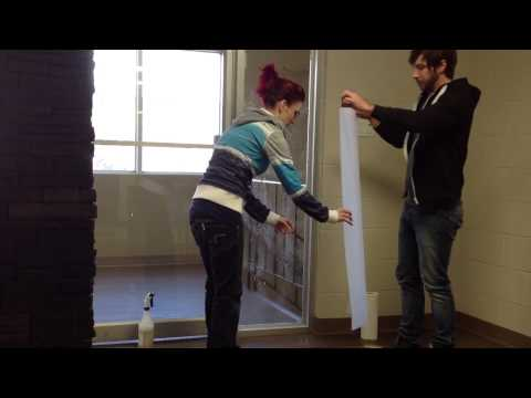 How to install glass etch vinyl (window frosting)