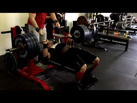 Marc Lobliner 405lb Bench Press with Mark Bell | Big Chest with the SlingShot