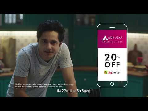 Enjoy 20% off* on BigBasket orders |  #BadeHoneKaFirstStep with Axis ASAP