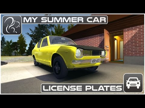 My Summer Car - License Plates