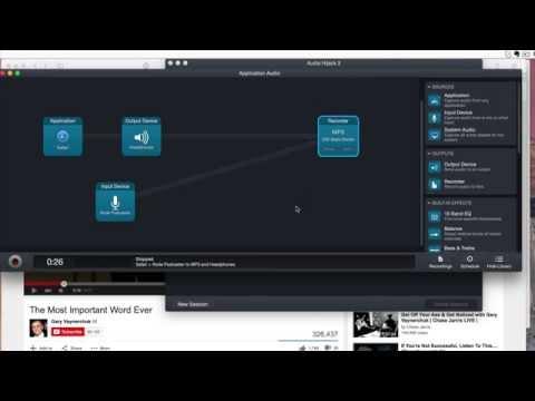 Using Audio Hijack to send browser audio to skype