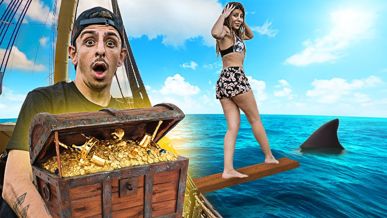 LAST To Walk The Plank Wins Mystery Treasure Chest - Challenge