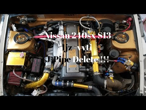 Nissan 240sx S13 1Jz vvti J-Pipe Delete Kit Finally is Done .!!!