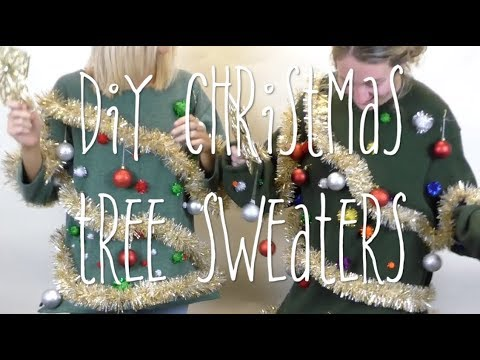 How To Make A DIY Christmas Tree Sweater