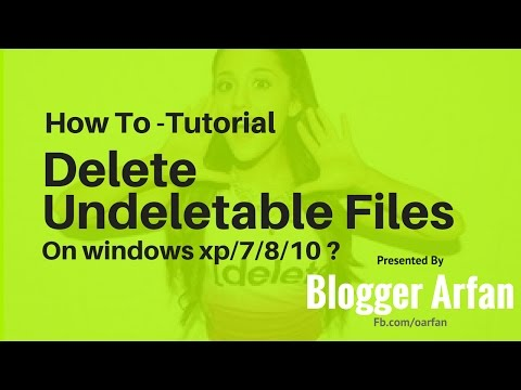 How To delete an undeleteable file/image/folder [Solved] on widnows xp/ 7/8/10?