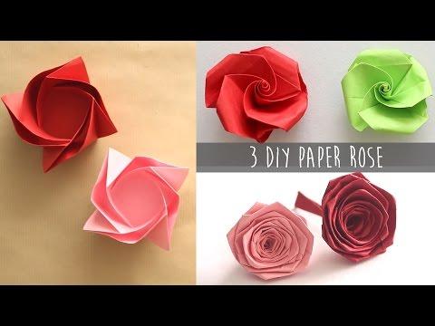 3 Easy DIY Paper Rose