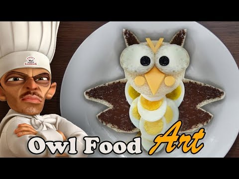 Owl Food Art for Breakfast.