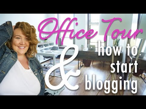 How I started blogging, how much money I make + AN OFFICE TOUR!
