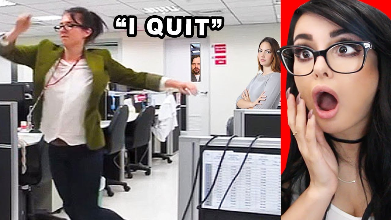 PEOPLE QUITTING THEIR JOB ON CAMERA