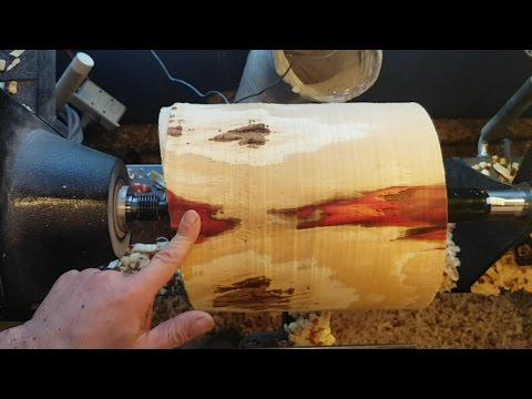 Woodturning Crack Spalted Vase