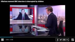 News Anchor Video Bombed by Kids in the Background - News Blooper