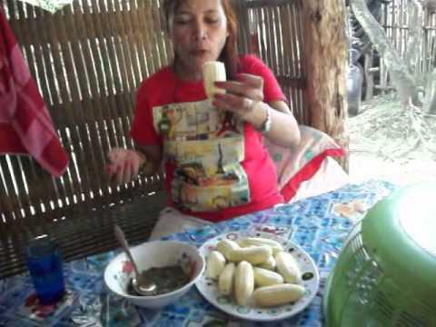 Bananas -Salted Fish Intestines - Bagoong - Bohol, Philippines