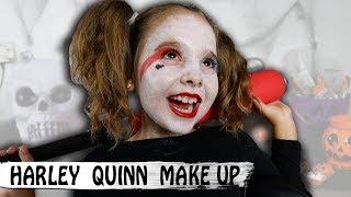 HALLOWEEN MAKEUP : Harley Quinn pour enfant , hyper facile et rapide
