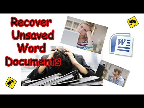 Recover Unsaved Word Documents (easy)