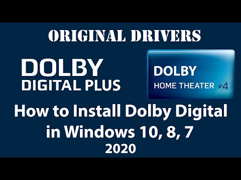 How to Install Genuine Dolby Digital Drivers in Windows 10, 8, 7