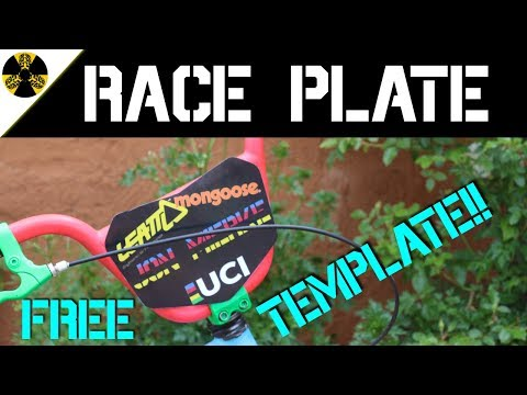 diy bmx race plate (free template!!!)
