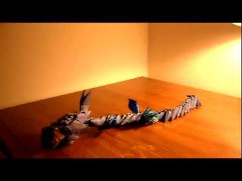 origami Blue dragon
