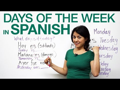 Basic Spanish - Days of the week in Spanish
