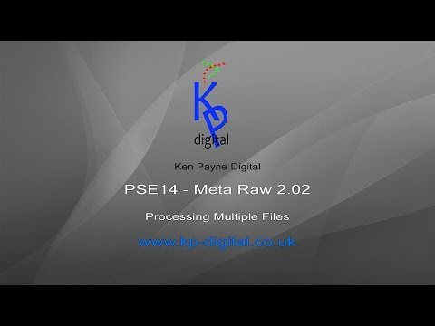 PSE14 META RAW   Process Multiple Files
