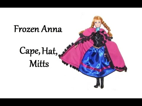 How to make Frozen inspired Anna Cape Tutorial (Hat and Mitts) DIY