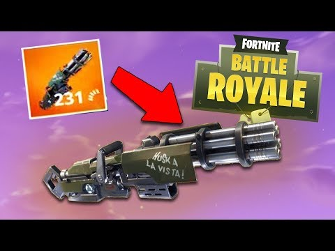THE SEARCH FOR THE MINI-GUN in Fortnite: Battle Royale