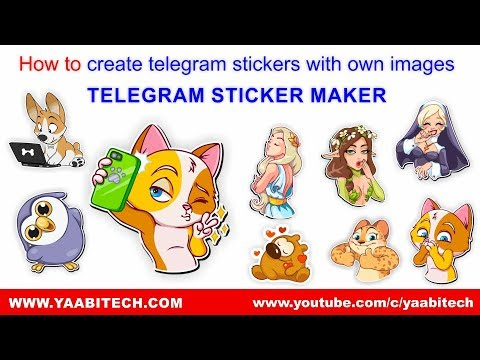 How to create telegram stickers with own images | TELEGRAM STICKER MAKER | YAABITECH