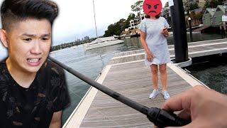 Woman Threatens To Call Police For Releasing Fish