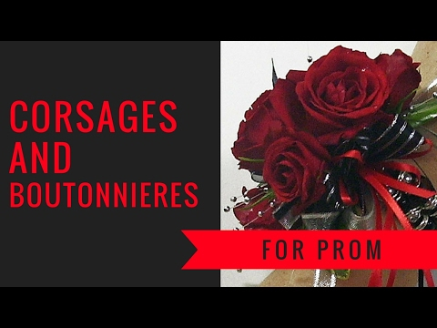 Perfect Corsages and Boutonnieres for Prom