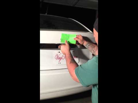 Vinyl decal installation chevy bowtie