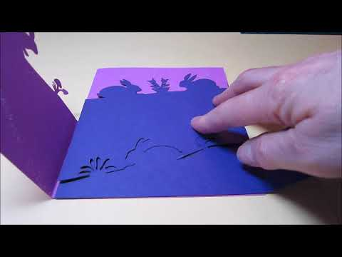 Easter foldover card assembly