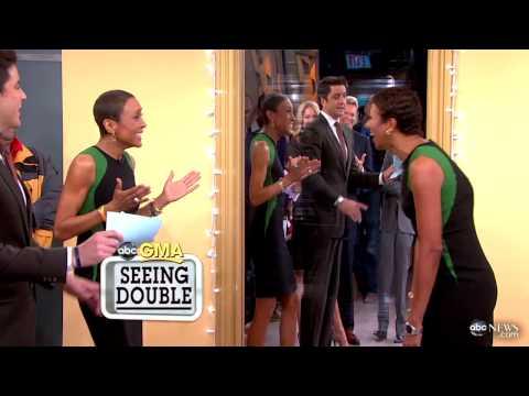 Celebrity Dopplegangers: Robin Roberts Meets Her Look-Alike on 'Good Morning America'