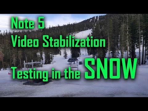 Note 5 1080p video stabilization testing