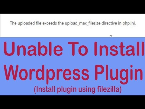 Wordpress Error- Unable To Install Plugin From Dashboard And Cpanel