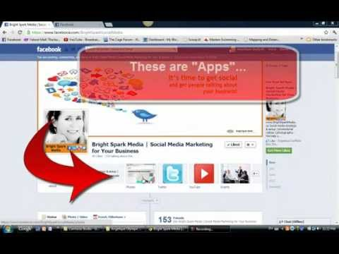 Facebook Tutorial - How to Rearrange and Rename Your Fan Page Apps