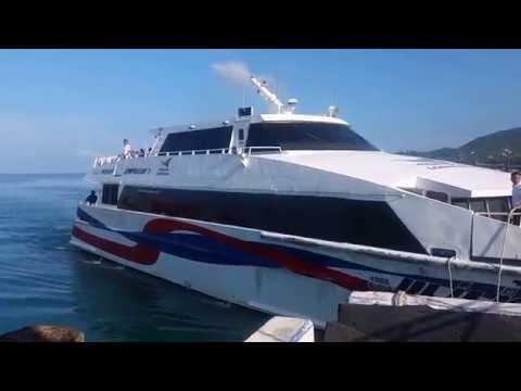 Leaving Koh Samui by Lomprayah Ferry - Pralan Pier Maenam