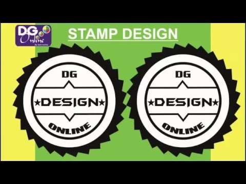 How To Make a Stamp Design In Coreldraw