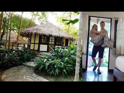Private Thailand Jungle Hut Room tour (family vlog)