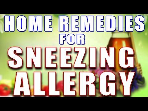 HOME REMEDIES FOR SNEEZING ALLERGY II छींकने की एलर्जी के लिए असरदार घरेलू उपचार II