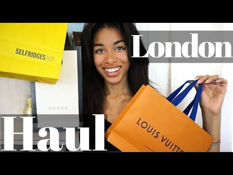 LONDON LUXURY HAUL  |  What I Bought in London, Shopping Heathrow Terminal 5 + more  |  KWSHOPS