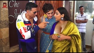 Akshay Kumar, Vidhya Balan, Tapsee Pannu Arrives For Promotion Of Movie MISSION MANGAL