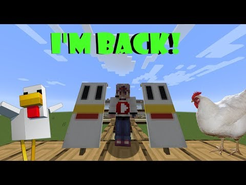 I'M BACK! How to make a Chicken Banner in Minecraft!!!