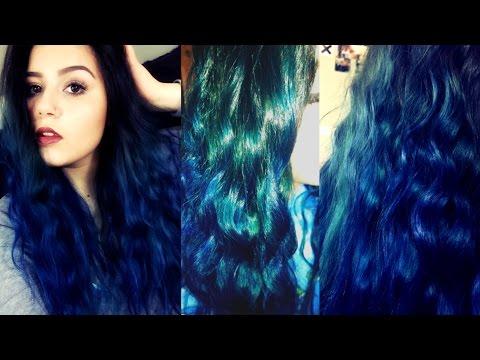 DYING MY HAIR BLUE! (DIY BLUE OMBRE HAIR)