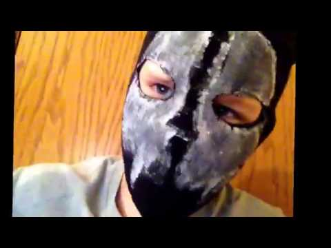 How to make a COD GHOSTS mask   YouTube