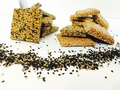 Sesame Seed Brittle using Jaggery in English with Raihana's Cuisines