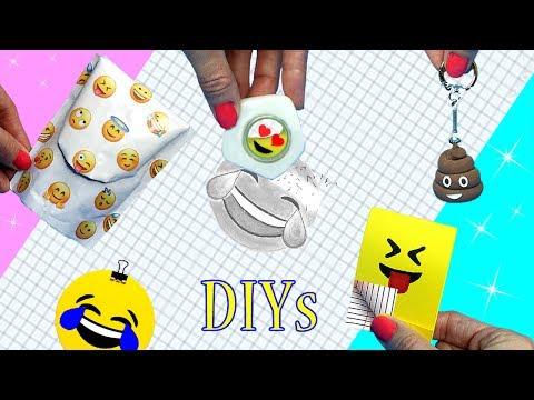 DIY School Supplies! 5 EMOJI DIYs (Miniature Backpack, Notebook, Keychain, Liquid Eraser)Cool Crafts